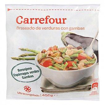 Carrefour Braseado Verduras con gambas 450 G 450 g