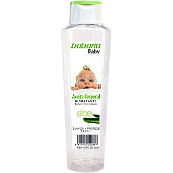 BABARIA aceite corporal Baby Hidratante con Aloe suaviza y protege la piel frasco 400 ml