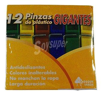 Bosque Verde Pinzas ropa gigantes Paquete 12 u