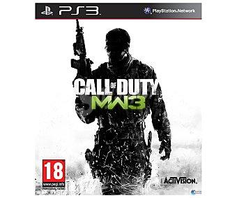 Activision Videojuego Call of Duty: Modern Warfare 3 para Playstation 3. Género: acción, shooter, fps, bélico. Recomendación por edad pegi +18 3 Ps3