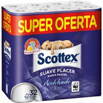 Scottex Papel higiénico acolchado Paquete 32 rollos