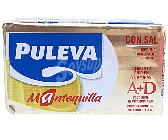 PULEVA GRAN SABOR Mantequilla con sal  paquete 250 g