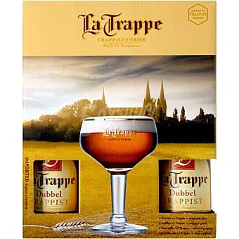 La Trappe Doble cerveza negra holandesa Pack 4 botella 33 cl
