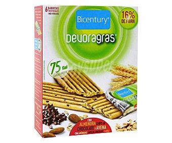 Bicentury Barritas Devoragras de avena con almendras y trocitos de chocolate 105 Gramos