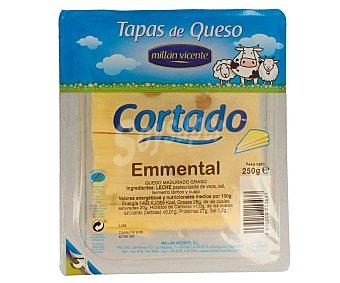 Millan Vicente Tapas de queso emmental cortado envase 250 g