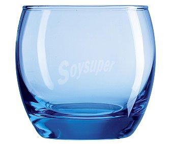 ARCOROC Pack de 4 vasos modelo Salto, con capacidad de 32 centilitros y fabricados en vidrio de color hielo azul Pack de 4