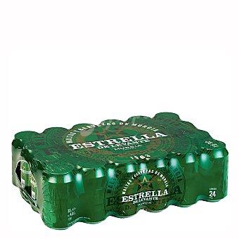 Estrella Levante Cerveza Lager Pack de 24 latas de 33 cl