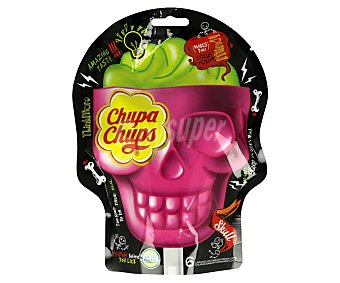 Chupa Chups Caramelo con palo 3D Skull Halloween 90 g