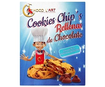 CHOCO L`ART Cookies rellenas de chocolate 160 Gramos