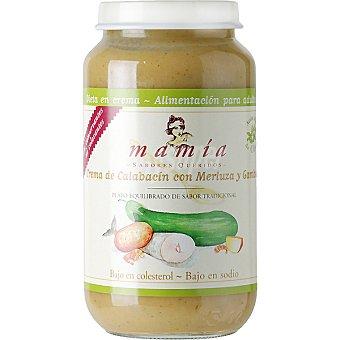 Mamía Crema de calabacín con merluza y gambas Tarro 250 g