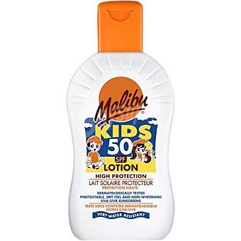 Malibu Leche protectora solar FP-50 resistente al agua Kids frasco de 200 ml