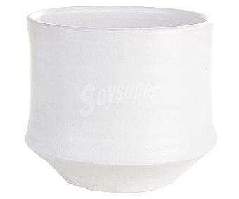 VAN Maceta cerámica lisa y de color blanco 1 unidad