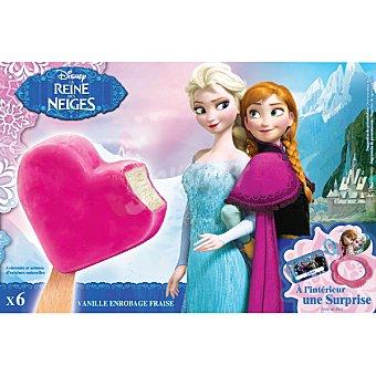 Disney Frozen Helado Frozen con cobertura de fresa e interior de vainilla estuche 360 ml 6 unidades