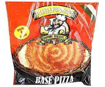 PANNA&POMODORO Base pizza precocida con tomate 280 Gramos
