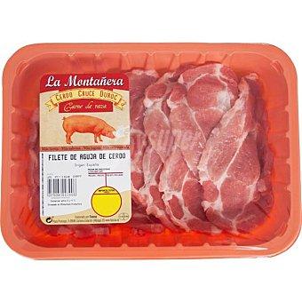 LA MONTAÑERA Filetes de aguja/cabeza de lomo de cerdo Bandeja 500 g peso aprox.