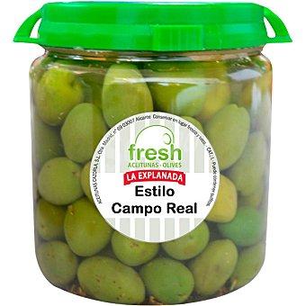 La Explanada Aceitunas verdes aliño Campo Real Fresh Envase 375 g