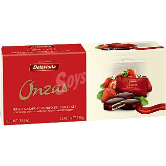 Delaviuda Onzas de fresa cubiertas de chocolate Estuche 150 g