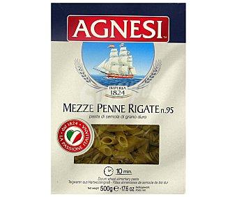 Agnesi Pennes Rigates nº 95, pasta de sémola de trigo duro de calidad superior 500 Gramos