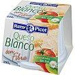 queso fresco blanco con fibra envase 250 g Reny Picot