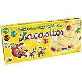 Lacasa Turrón crujiente de chocolate blanco con Lacasitos Tableta 200 g
