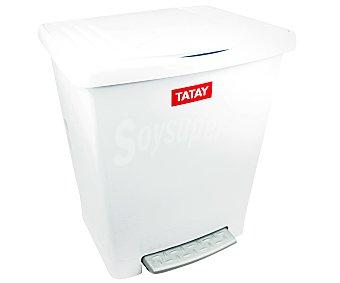 Tatay Cubo para la basura con pedal y de color blanco 1 unidad