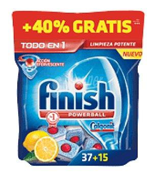 Finish Lavavajillas máquina todo en 1 Limón 37 pastillas