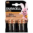 Plus Power pila alcalina AA (lr6/mn1500) Blister 4 unidades Duracell