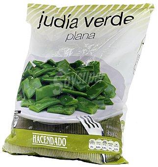 Hacendado Judia verde plana troceada congelada Paquete 1 kg