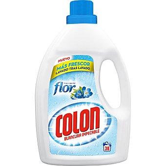 Colón Detergente máquina líquido gel Toque de Flor Botella 38 dosis