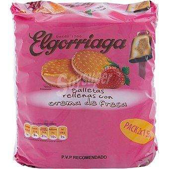Elgorriaga galletas rellena de crema de fresa 300 g 2x150g