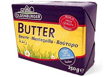 OLDENBURGUER Mantequilla alemana con sal Envase 250 g