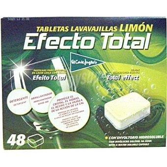 El Corte Inglés Detergente lavavajillas efecto total limón Caja 48 pastillas