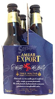 Ambar Export Cerveza extra (elaborada CON 3 maltas) Botellin pack 6 x 330 ml - 1980 ml