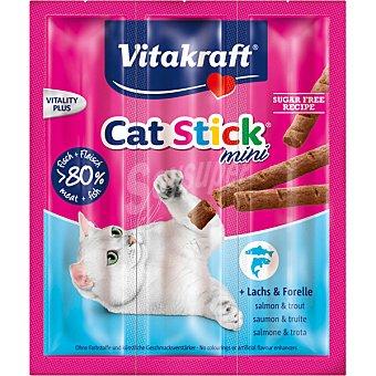 Vitakraft Snack Mini para gato con salmón y trucha 3 envases de 6 g