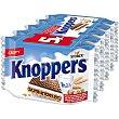 Galletas de barquillo con leche y avellanas individuales 5 envases 25 g Knoppers