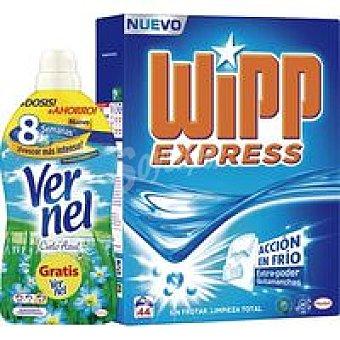 WIPP Detergente Polvo + suavizante de regalo 44 Dosis