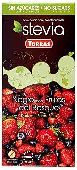 Torras Chocolate negro con frutas del bosque sin azúcares añadidos Tableta 125 g