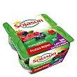 Yogur de soja con trozos de frutas del bosque 4 unidades de 100 gramos Sojasun