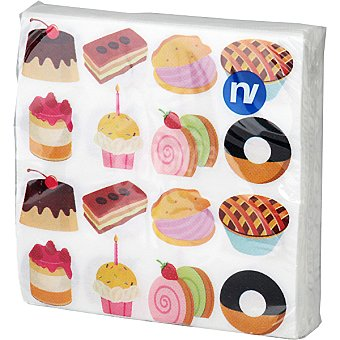 NV CORPORACION Servilletas decorado cookies 33x33 cm Paquete 20 unidades