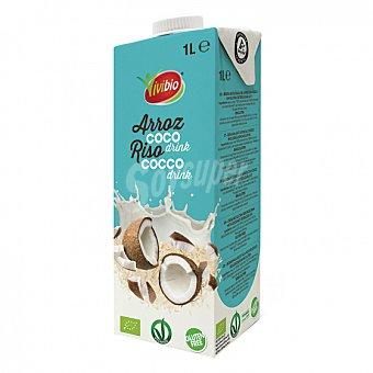 Vivibio Bebida de arroz y coco ecológica sin gluten Brik 1 l