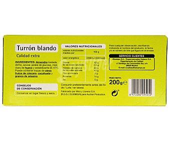 PRODUCTO ECONÓMICO Turrón blando, 200 gramos