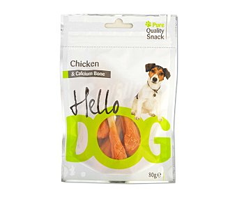 HELLO DOG Snacks de pollo y calcio 80 gramos