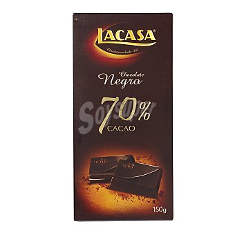 Lacasa Chocolate negro intenso 70% cacao 150 g
