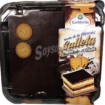 GRANDERROBLE Tarta de la abuela con galletas chocolate y nata 10 raciones (cuadrada)  1 unidad de 825 g