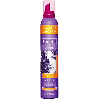 Lanofil Espuma rizo vivo fijación normal Spray 300 ml