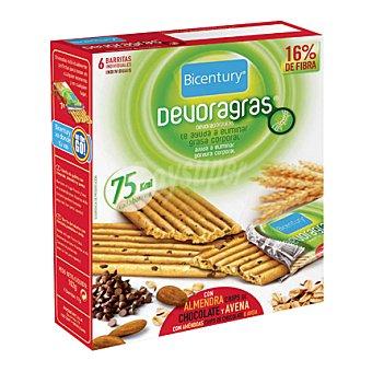 Bicentury Barrita Devoragras con almendra, chips de chocolate y avena 105 g