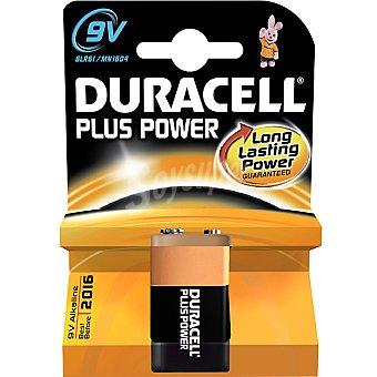 Duracell 6LR61 9V pilas alcalinas Plus Power blister 1 unidad 6LR