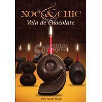 Xoc & Chic Vela de chocolate Nº 9 Pack 1 unid