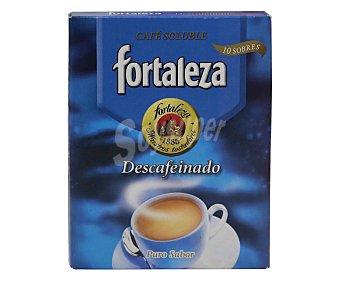 Fortaleza Café soluble descafeinado 10 sbs