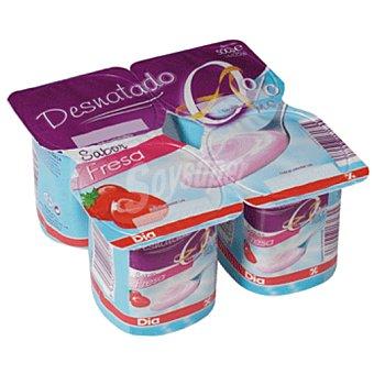 DIA Yogur fresa desnatado pack 4 unidades 125 g